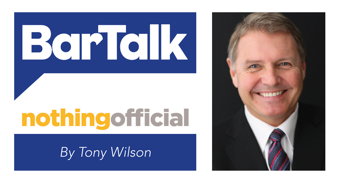 BarTalk Nothing Official By Tony Wilson