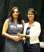 Kamaljit Lehal and CBABC President Margaret A. Mereigh